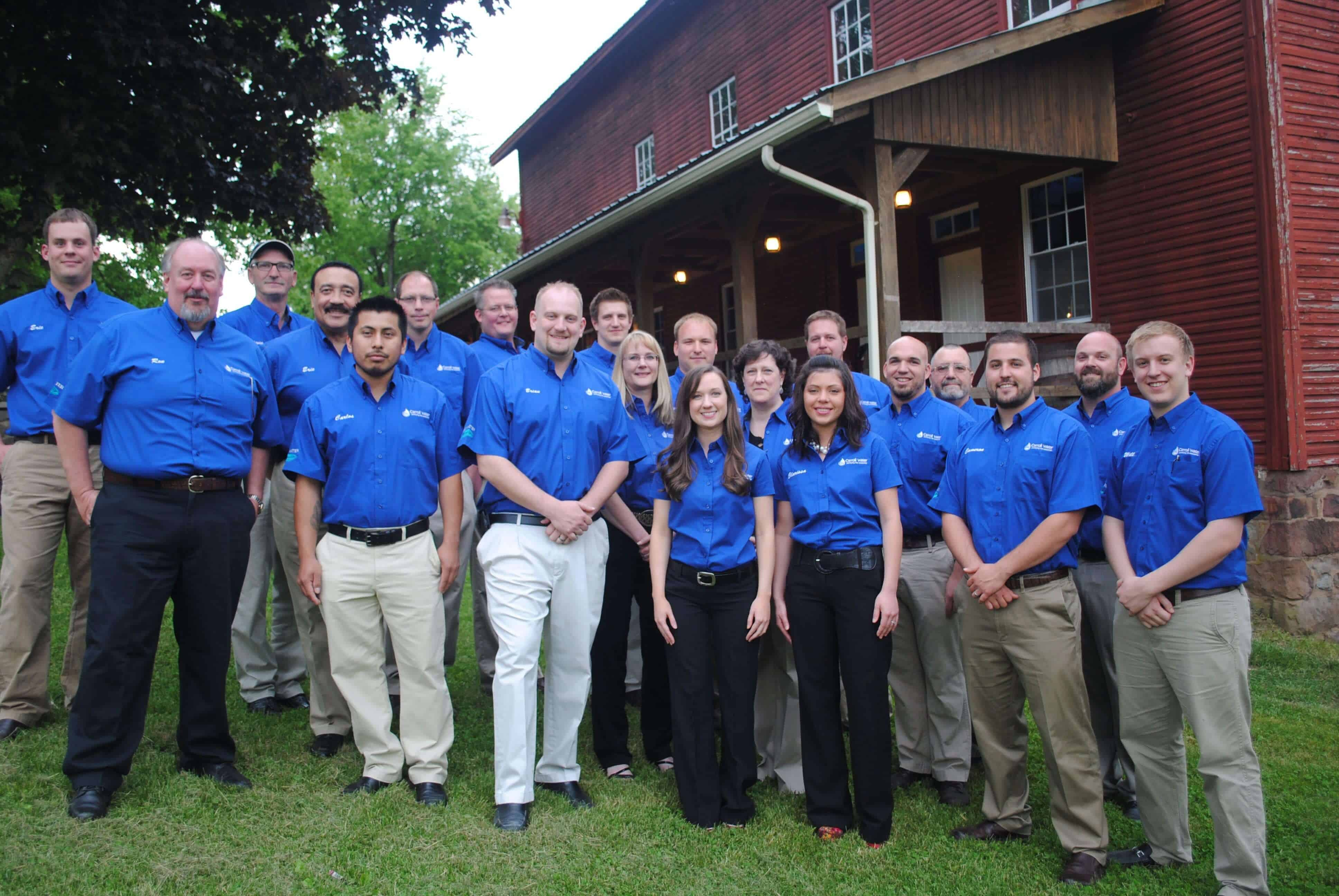A group photo of the Carroll Water Systems team.