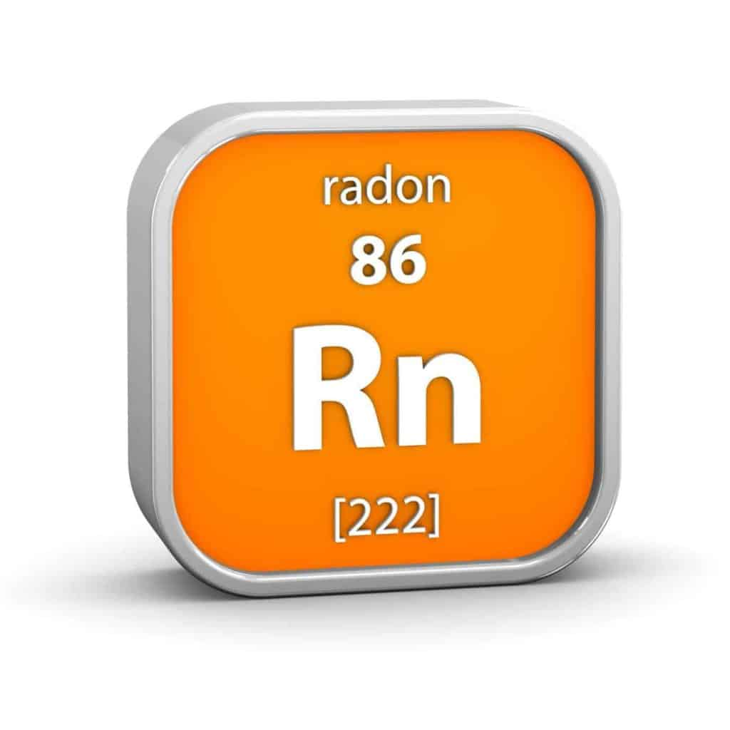 This is a graphic of the Radon periodic element. Radon is a radioactive gas that is created through the natural decay of uranium.