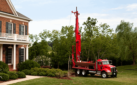 Pictured: A well-drilling truck that is performing harr well-drilling, a service that is provided by Carroll Water.
